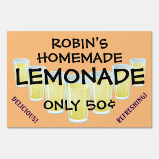 Eye-Catching Customizable Lemonade Sale Sign! Sign