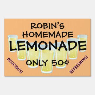 Eye-Catching Customizable Lemonade Sale Sign! Lawn Signs
