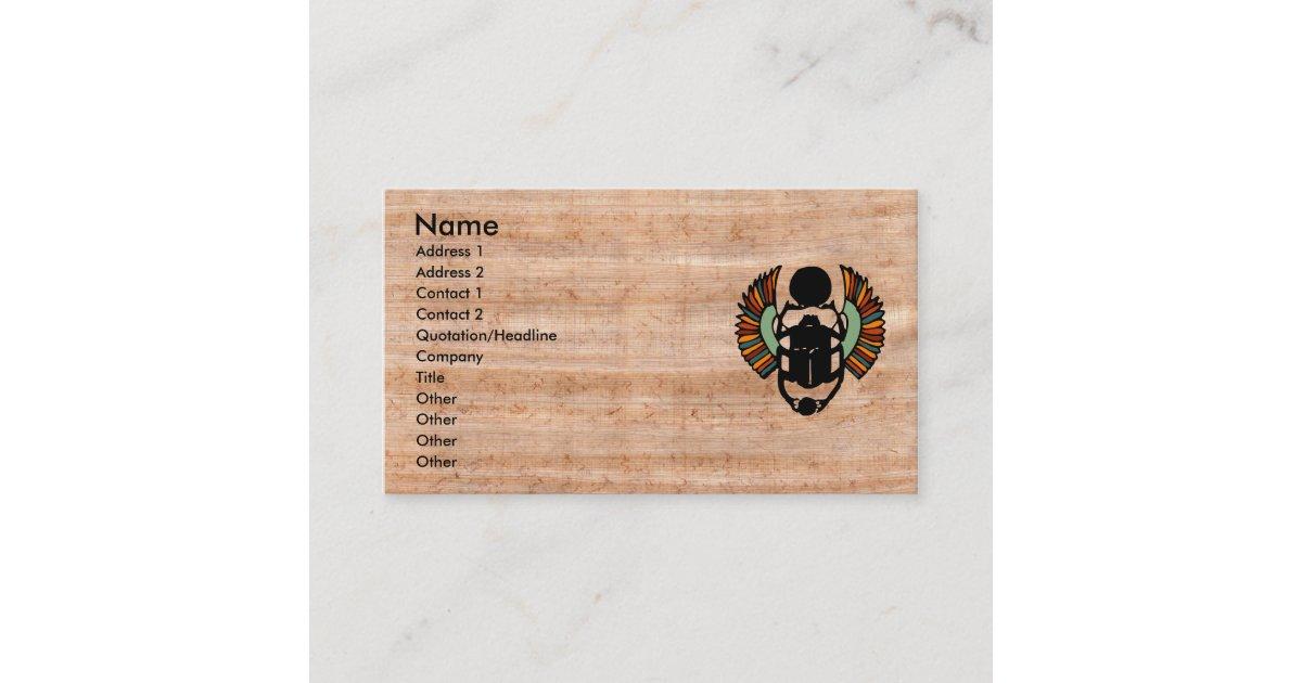 Luxury Papyrus Business Cards Crest - Business Card Ideas - etadam.info