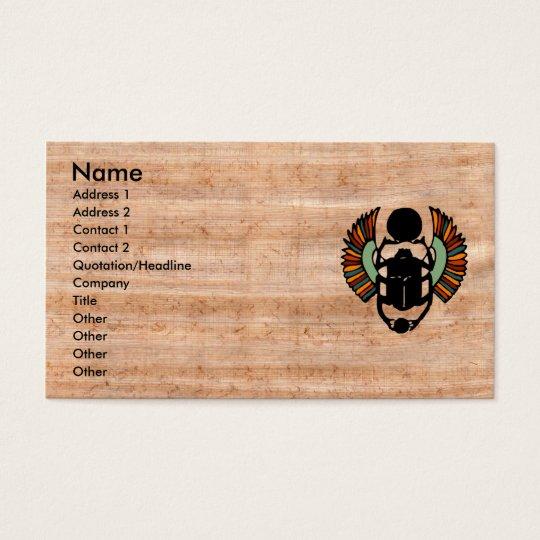 Eye Catching Egyptian Papyrus Business Card Zazzle Com