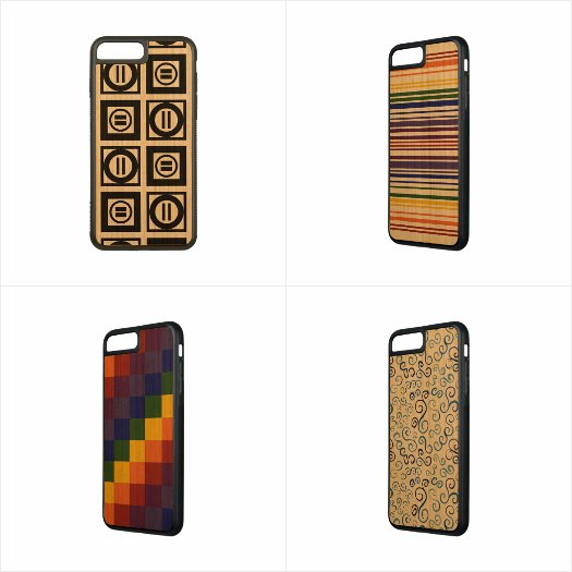 Eye-catching Geometric iPhone 7 Plus Wood Cases