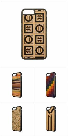 Eye-catching Geometric iPhone 7 Plus Wood Cases