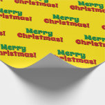 "[ Thumbnail: Eye-Catching ""Merry Christmas!"" Wrapping Paper ]"