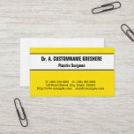 Eye-Catching Plastic Surgeon Business Card