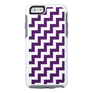 Eye-catching Purple and White Diagonal Zigzags OtterBox iPhone 6/6s Case