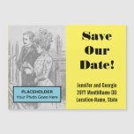 "[ Thumbnail: Eye-Catching ""Save Our Date!"" Magnetic Card ]"