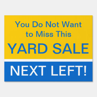Eye Catching Yard Sale Directions Sign
