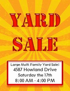 yard sale flyers zazzle