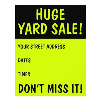 Eye-Catching Yard Sale Flyers