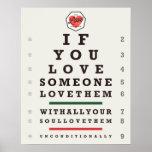 Eye Chart (16 x 20) Poster
