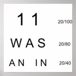 Eye Chart - 911 Truth Poster
