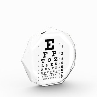 Eye Chart Acrylic Award
