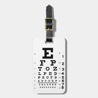 Eye Chart Bag Tag