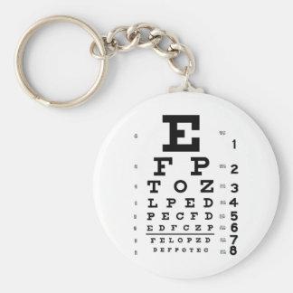 Eye Chart Basic Round Button Keychain