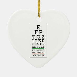 Eye Chart Ceramic Ornament