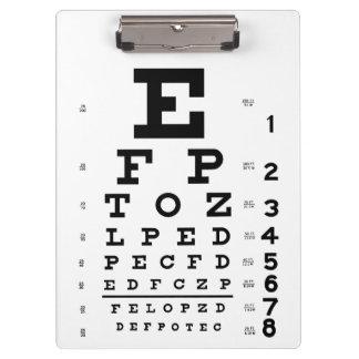 Eye Chart Clipboard
