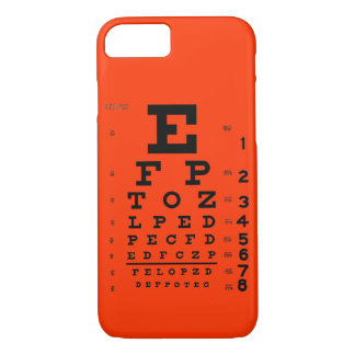 Eye Chart Customizable background color phone case