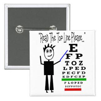 Eye Chart Eye Doctor Design Gifts Button