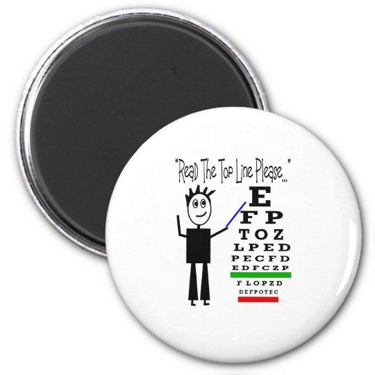 Eye Chart Eye Doctor Design Gifts Magnet