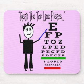 Eye Chart Eye Doctor Design Gifts Mouse Pad