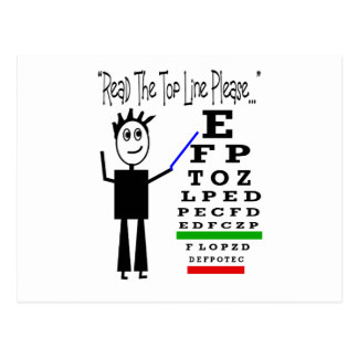 Eye Chart Eye Doctor Design Gifts Postcard