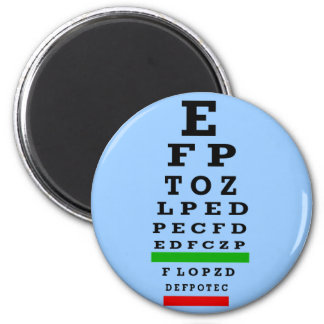 EYE CHART Gifts 2 Inch Round Magnet