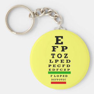 EYE CHART Gifts Basic Round Button Keychain