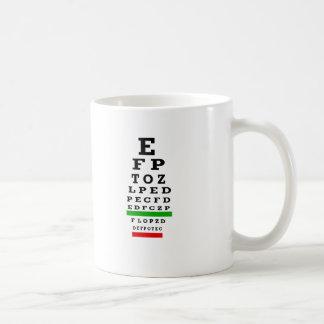 EYE CHART Gifts Classic White Coffee Mug