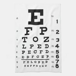 Eye Chart Hand Towel at Zazzle