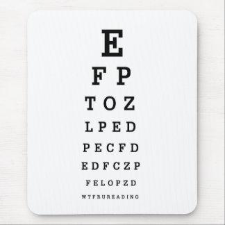 EYE CHART - Humor WTF RU READING Mouse Pad