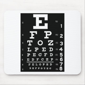 Eye Chart Mouse Pad