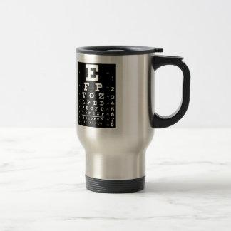 Eye Chart 15 Oz Stainless Steel Travel Mug