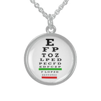 Eye Chart Necklace or Pendant