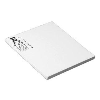 Eye Chart Memo Notepad