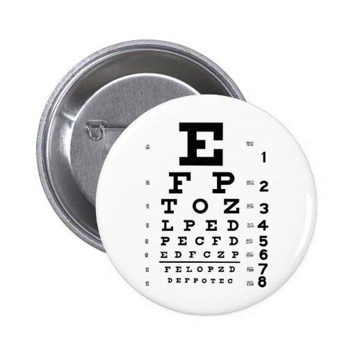 Eye Chart Pins
