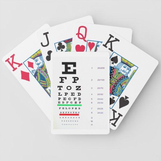 Eye Chart Playing Cards Zazzle