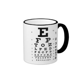 Eye Chart Ringer Coffee Mug