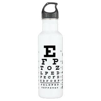 Eye Chart Stainless Steel Water Bottle
