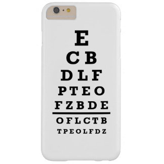 Eye chart test barely there iPhone 6 plus case