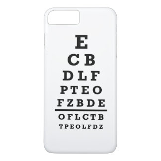 Eye chart test iPhone 7 plus case