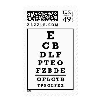 Eye chart test postage stamp
