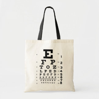 Eye Chart Tote Bag