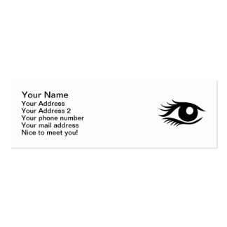 Eye cilia business cards
