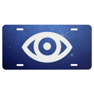 Eye Circles Pictogram License Plate