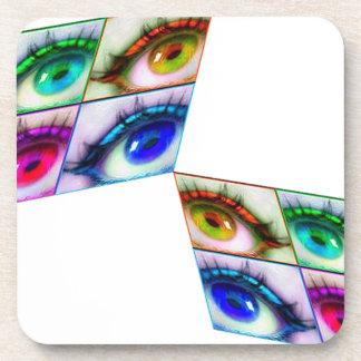 eye color drink coaster