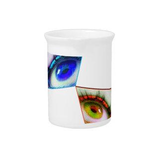 eye color drink pitcher