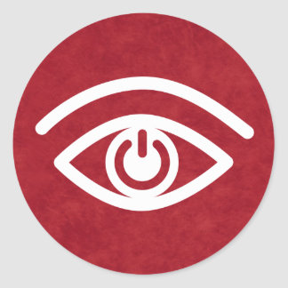 Eye Contact Classic Round Sticker
