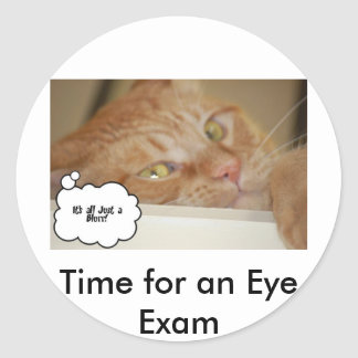 Eye Doctor Humor Optometrist Classic Round Sticker