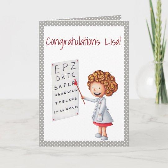 eye doctor optometrist graduation card zazzle com
