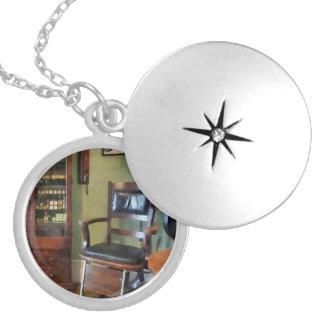Eye Doctor's Office Round Locket Necklace